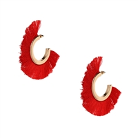 Jewelry Collection Samba Fringe Hoop Earrings