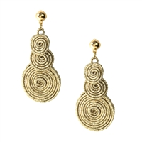 B Jewelry Collection Glimmer Shimmering Coil Drop Earrings