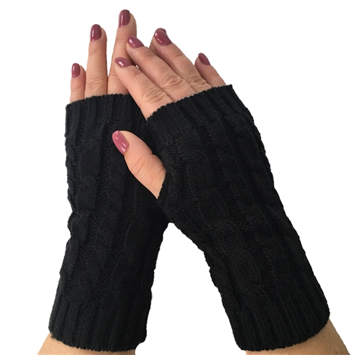 Fashion Culture Cable Knit Fingerless Texting Gloves