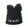 Fashion Culture Cat Critter Beanie Hat w Fuzzy Ears