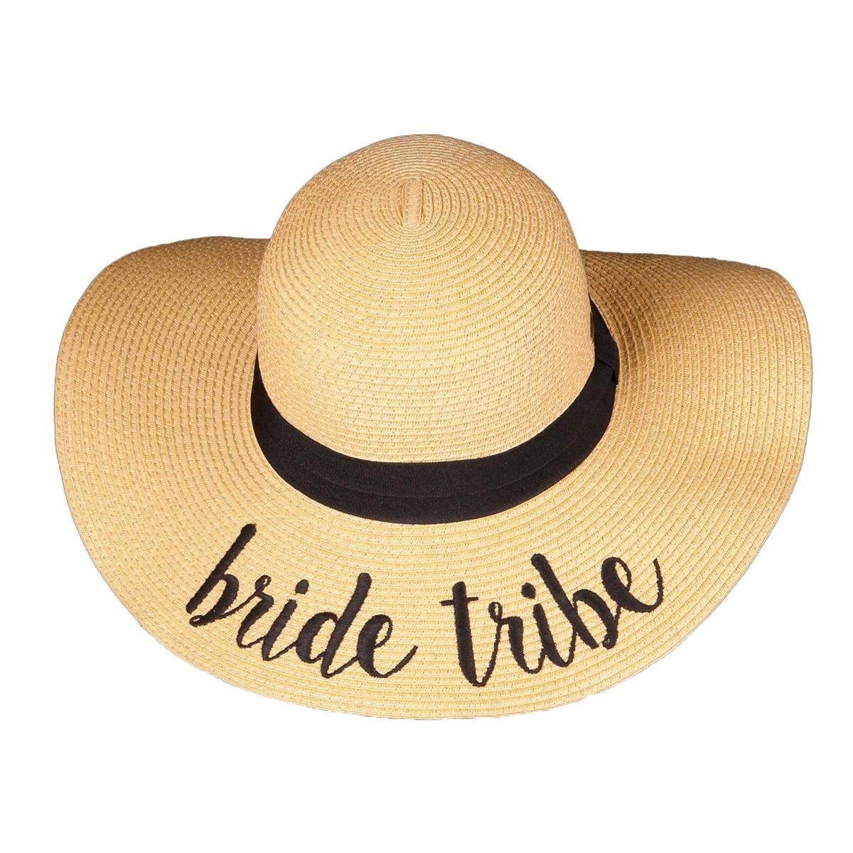 2e0a7c1e97306 Fashion Culture Bride Tribe Bridal Floppy Straw Sun Hat