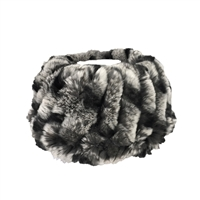 Real Rabbit Fur Neck Warmer Wide Headband
