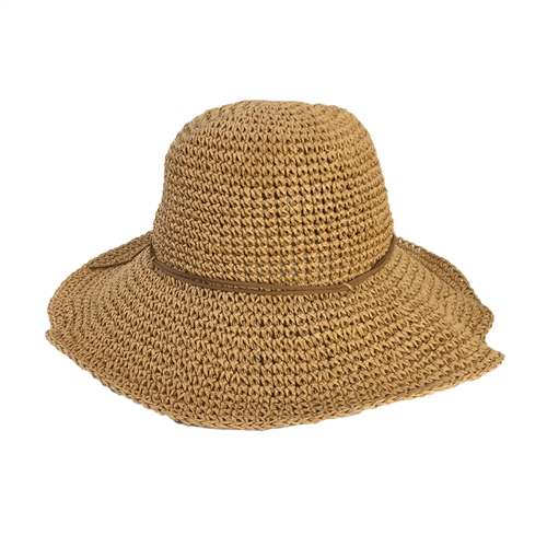 Perfectly Packable Woven Straw Sun Hat