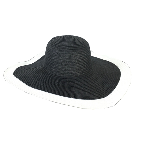 Fashion Culture Tiffany Wide Brim Floppy Straw Sun Hat