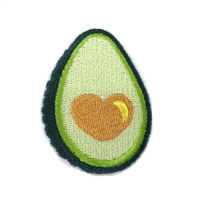 Luv Guac Avocado Embroidered Iron On Patch Applique