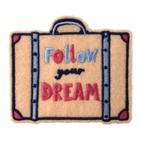 Wanderlust Follow Your Dreams Embroidered Iron On Patch