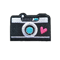 Camera Embroidered Iron On Patch Applique