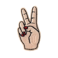 Fashion Culture Mini Hand Peace Sign Iron On Patch