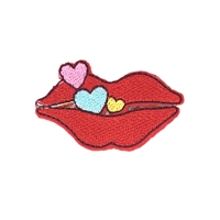 Fashion Culture Kissy Kiss Lips Iron On Patch