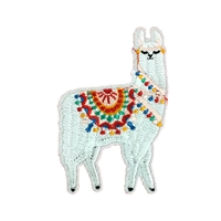 No Drama Llama Embroidered Iron On Patch Applique
