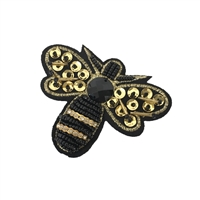 Queen Bee Sequin & Bead Embellished Patch Applique