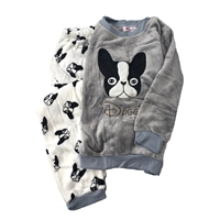Fashion Culture Boston Terrier Doggie Fleece Lounge Pajama Set