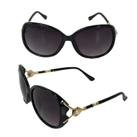 Fashion Culture You Fancy Pearl Accented Oversized Sunglasses