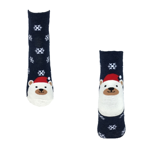 Fashion Culture Polar Bear Holiday Crew Socks