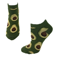 Fashion Culture Avocado Print Novelty Ankle Socks