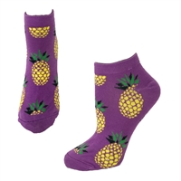 Fashion Culture Pineapple Print Novelty Ankle Socks
