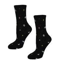 Fashion Culture Galaxy Solar System Print Crew Socks