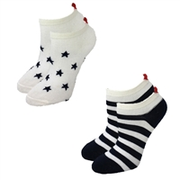 Stars & Stripes Peds Socks Pack of 2