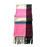 Fashion Culture Color Block Oversized Scarf Shawl