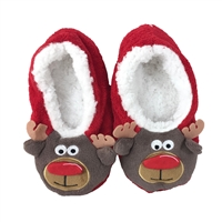Fashion Culture Reindeer Fuzzy Slipper Socks
