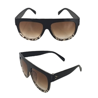 Fashion Culture Flat Top 55mm Two Tone Sunglasses
