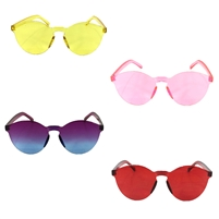 Candy Colored Round Rimless Sunglasses