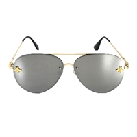 Fashion Culture Beehave 60mm Bee Aviator Sunglasses