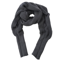 Fashion Culture Emmi Soft Knit Shrug Sweater Scarf with Sleeves