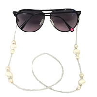 Fashion Culture Pearlescent Beaded Sunglasses Strap Glasses Lanyard
