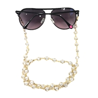 Fashion Culture Crystal Chain Sunglasses Strap Glasses Lanyard
