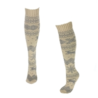 Fashion Culture Snow Reindeer Knit Knee High Socks