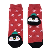Fashion Culture Penguin Holiday Crew Socks