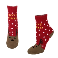 Fashion Culture Reindeer Holiday Plush Socks