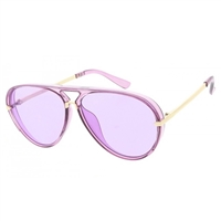Brow Bar Colorful Translucent Large Sunglasses