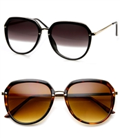 Women's Oversized Round Wayfarer Sunglasses