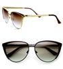 'Liana' Women's Etched Metal Cat Eye Sunglasses