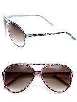 Women's 60MM Animal Print Aviator Sunglasses