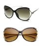 Oversized Butterfly Sunglasses Jaguar Trim