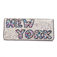 From St Xavier New York Sequin Convertible Clutch