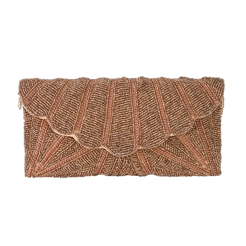From St Xavier Zia Beaded Evening Clutch