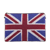 From St Xavier UK Union Jack Beaded Convertible Clutch