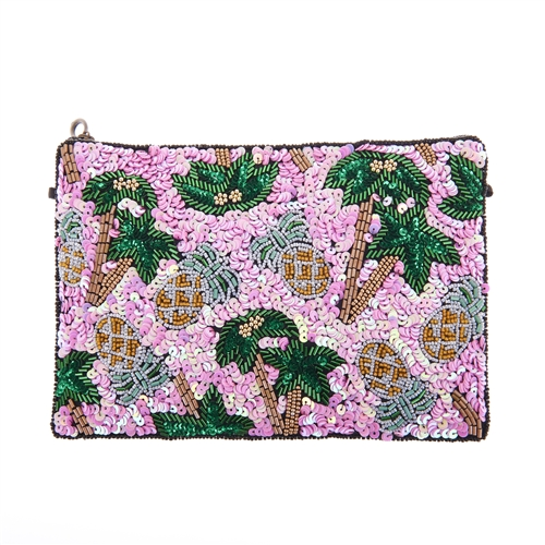 From St Xavier Palms & Pinapples Pammie Convertible Clutch