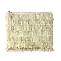 From St Xavier Skye Beaded Fringe Clutch Bridal Bag