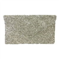 From St Xavier Chevy Beaded Clutch Evening Bag