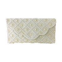From St Xavier Sophia Floral Beaded Clutch