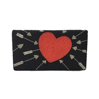 From St Xavier Cupid Heart & Arrow Beaded Clutch