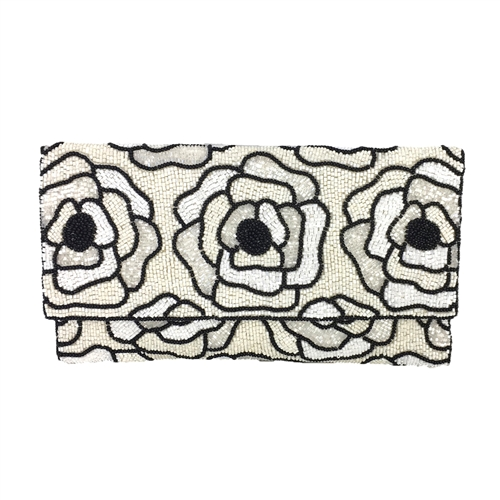 From St Xavier Flora II Beaded Convertible Clutch