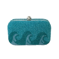 From St Xavier Wave Beaded Box Clutch Crossbody