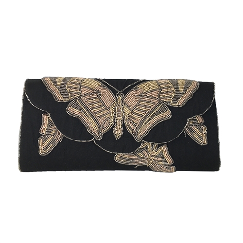 From St Xavier Beth Butterfly Beaded Clutch