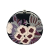 From St Xavier Cole Floral Beaded Velvet Round Clutch